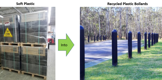 Soft plastic to bollards