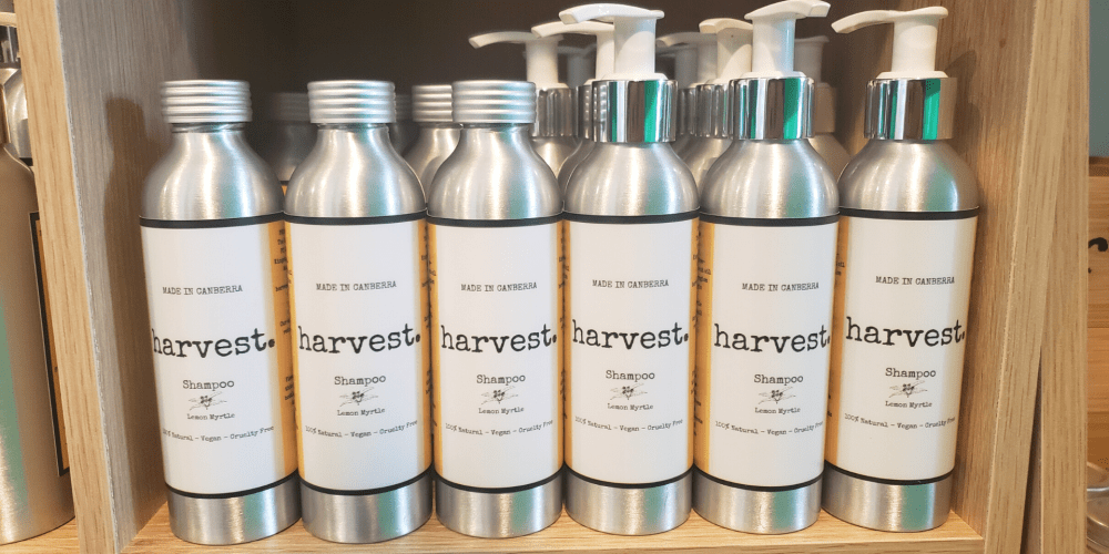 Harvestcare products on shelf