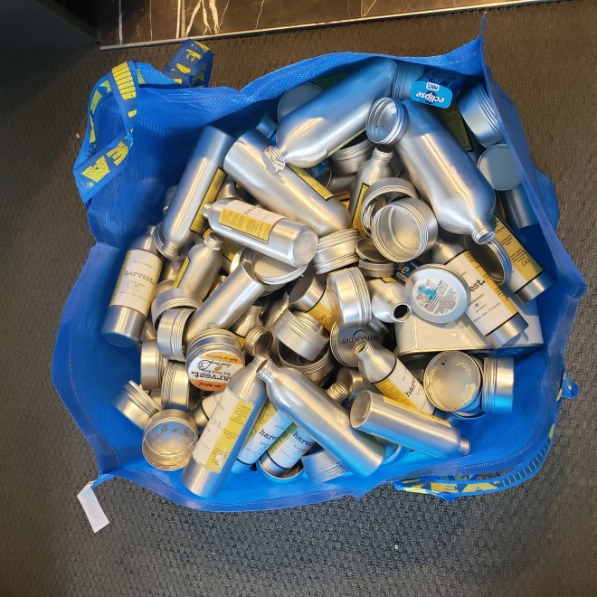 ikea bag of aluminium packaging