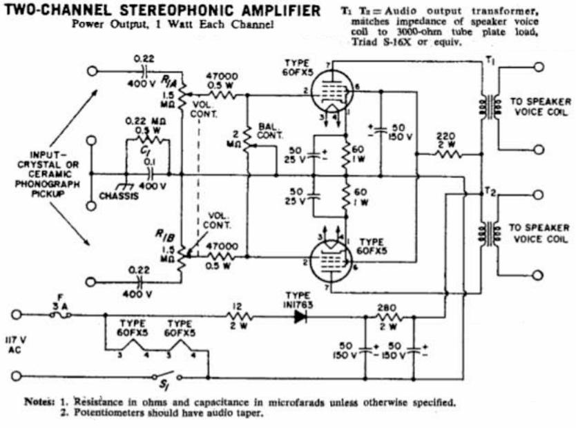 Neat Little 60FX5 Stereo Single-Ended Tube Amplifier