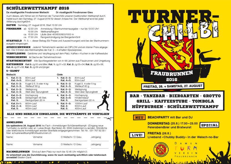 Turnerchilbi Flyer 2016 Front