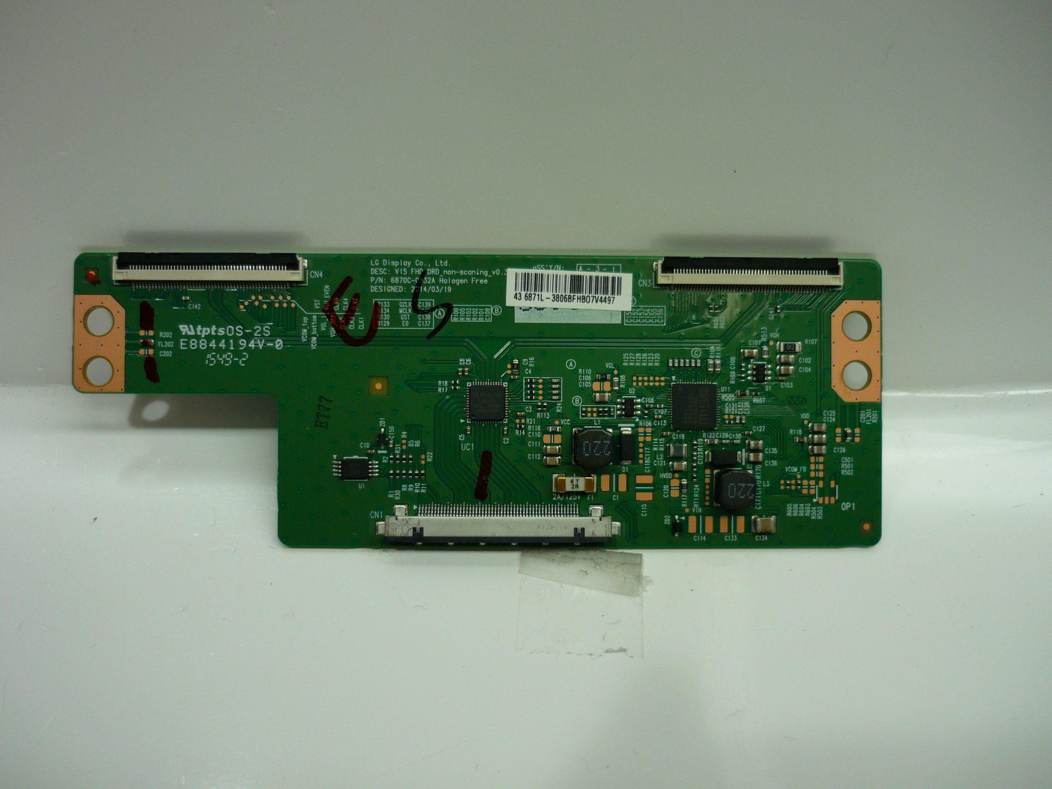 Vizio/Magnavox/Sanyo/JVC 6871L-3806B T-Con Board