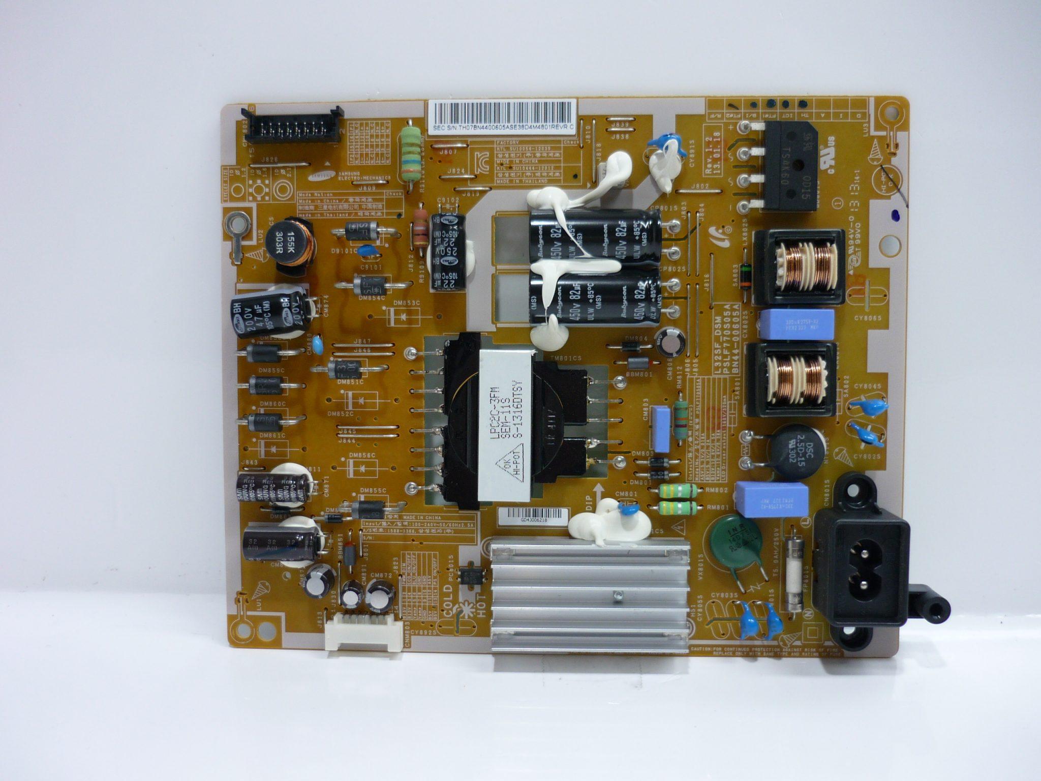 Samsung BN44-00605A Power Supply / LED Board