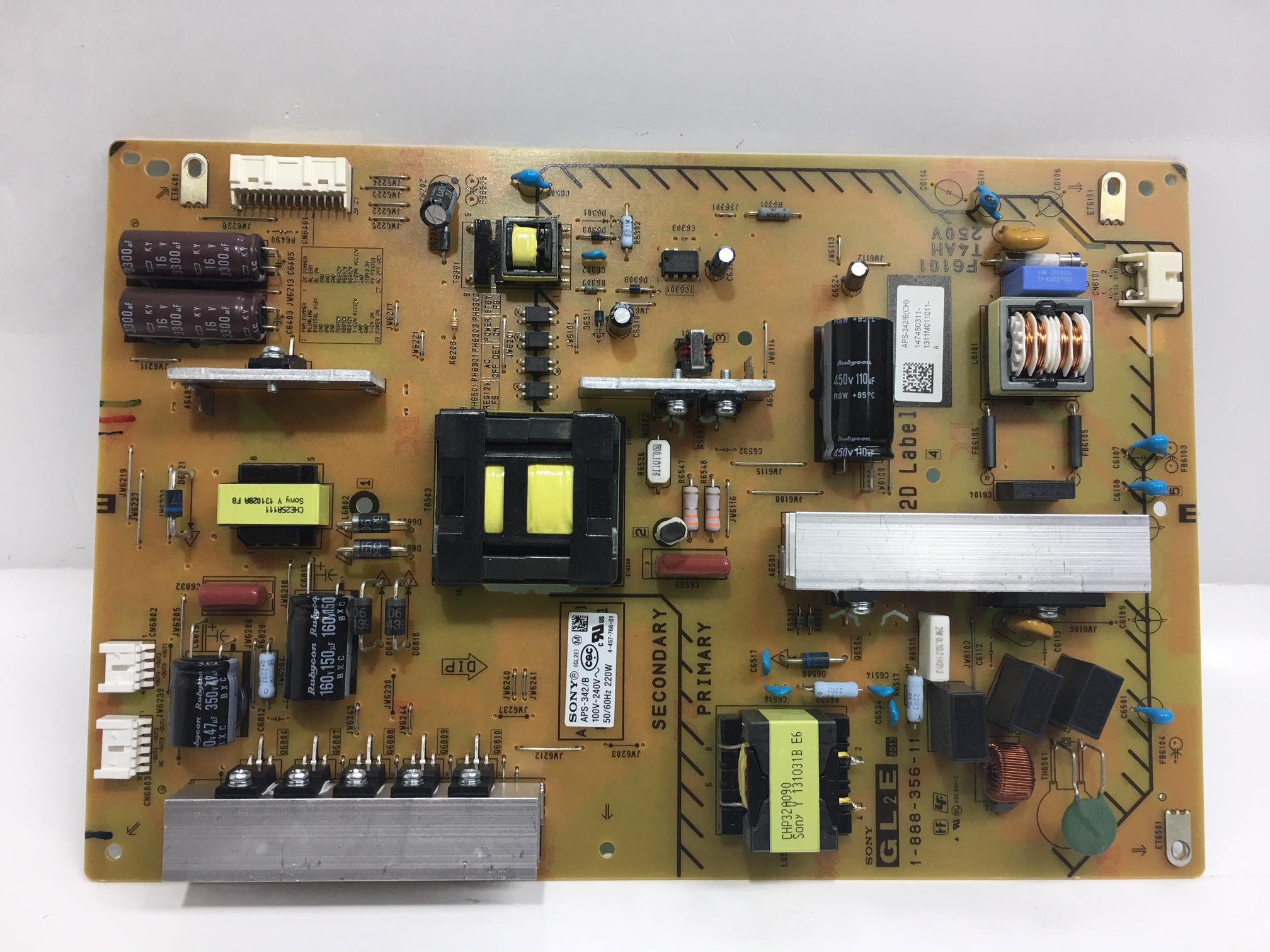 Sony 1-474-503-11 GL2E Power Supply for KDL-47W802A / KDL-55W802A
