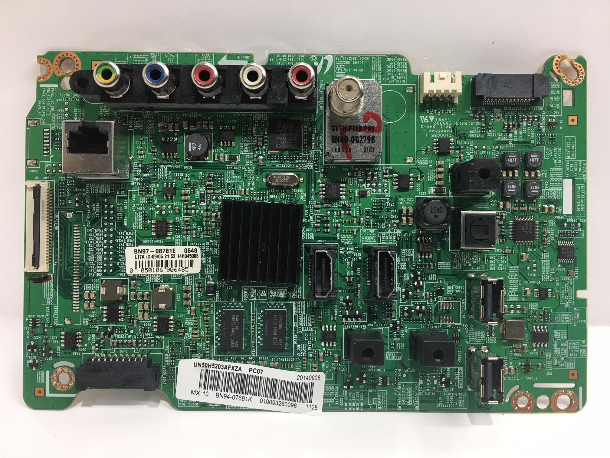 Samsung BN94-07691K Main Board for UN50H5203AFXZA