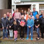 Sportabzeichenübergabe, Klaus Lotz als Übungsleiter verabschiedet