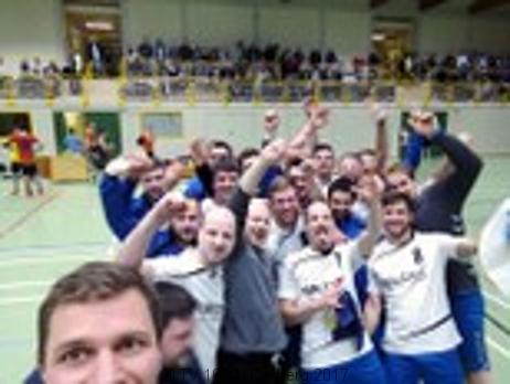 Handball  Aufstiegsfeier der Männer am Samstag, 15.04.2017