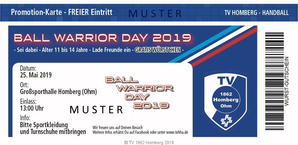 BALL Warrior Day  | 25.Mai 2019