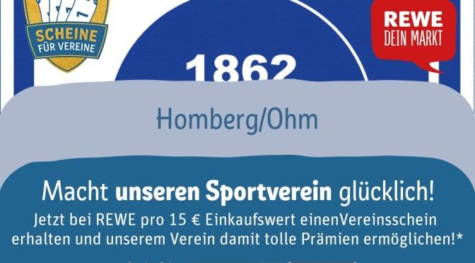 Jetzt Vereinsscheine für den TV 1862 Homberg sammeln!
