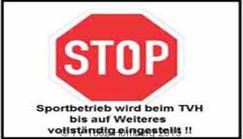 Sportangebote des TVH werden bis auf Weiteres eingestellt !!!