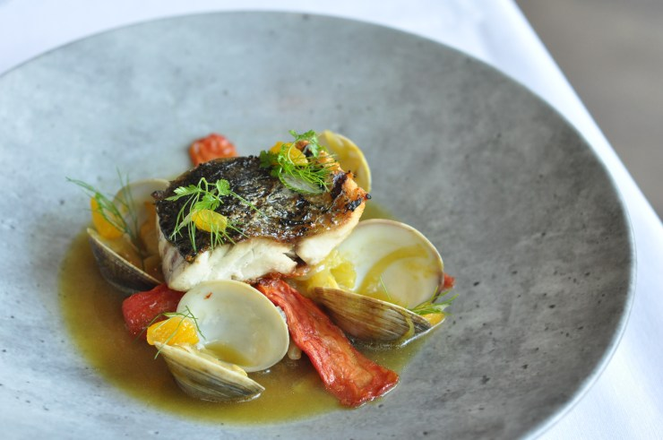 Barramundi with clams at Cafe Boulud Palm Beach