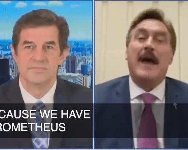 video newsmax anchor walks out of mike