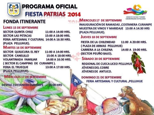 programación  fiestas patrias en Pelluhue