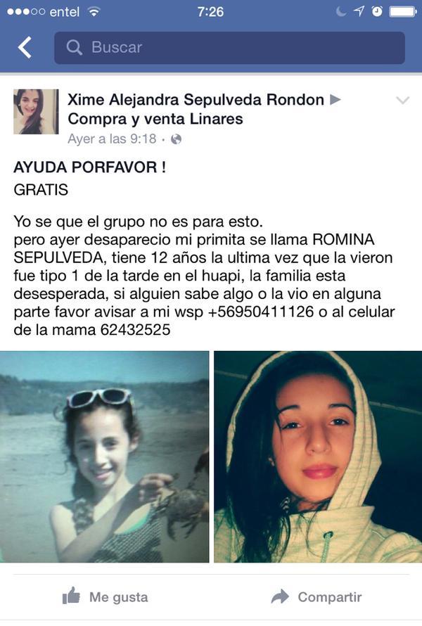 niña desaparecida Linares