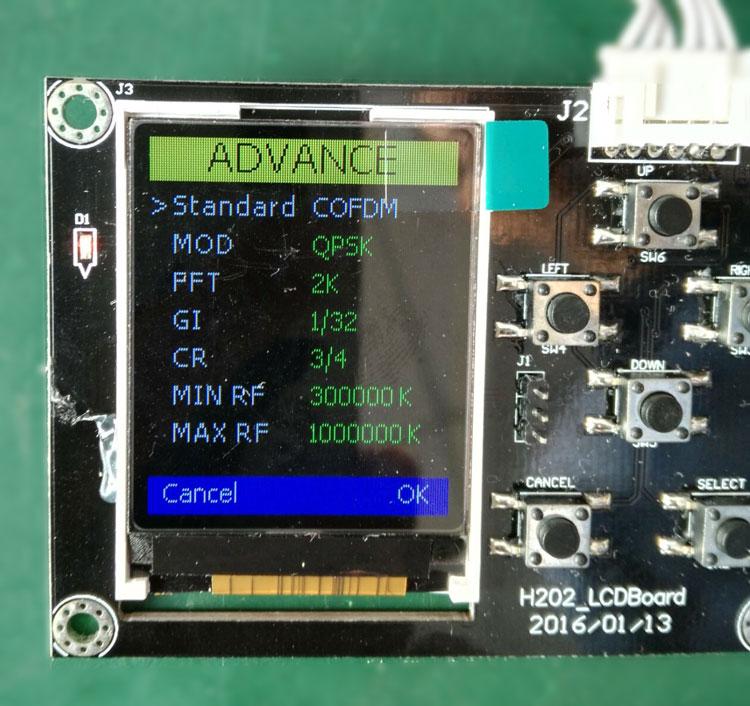 COFDM Transmitter DVB-T Parameter