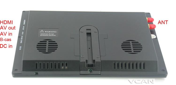 ISDB-T9 9 inch isdb-t full seg digital tv b-cas 2x2 tuner antenna