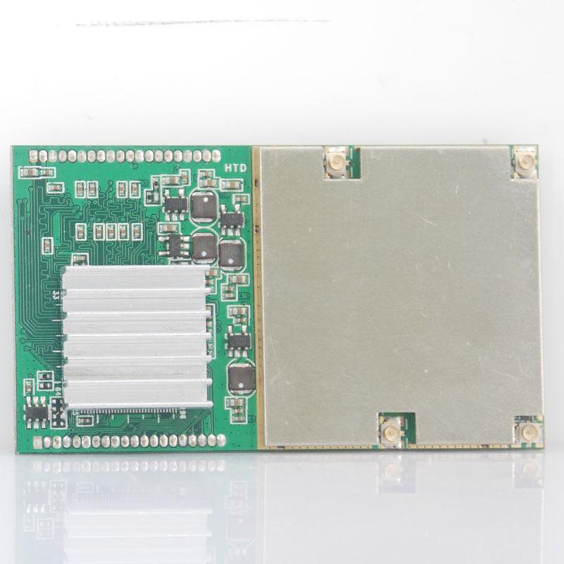 Car DVB-T2 pcb module 4 tuner digital auto mobile digital tv receiver four Siano chipset for DVBT2