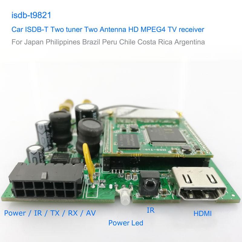 Automobile ISDB-T 2 tuner