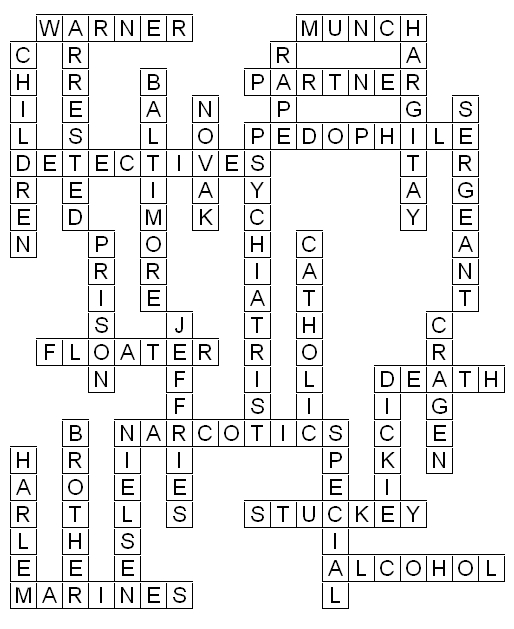 Law and Order SVU Crossword Puzzle Solution From The TV