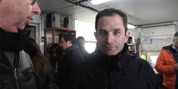 Benoît Hamon dans l'Hérault : la question de Tv Mèze