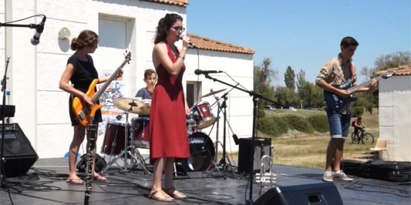 L'atelier «musiques actuelles» de l'école de musique aux journées de la jeunesse de Mèze