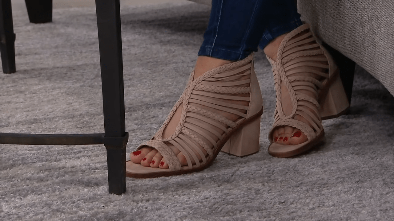 Vince Camuto Strappy Heeled Sandals - Kestal on QVC 2-34 screenshot