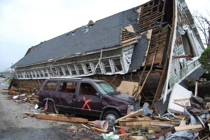 Joplin house torn off its foundation by tornado