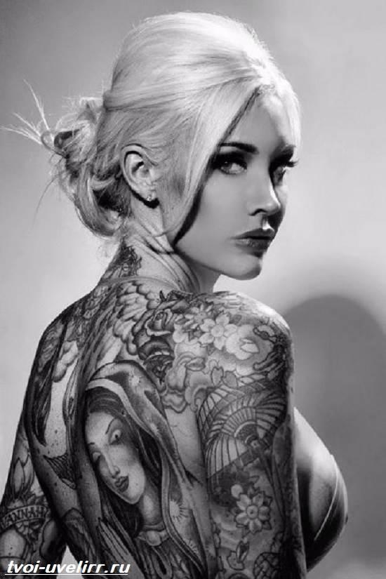 Черно-белые-тату-Значение-чёрно-белых-тату-Эскизы-и-фото-черно-белых-тату-7