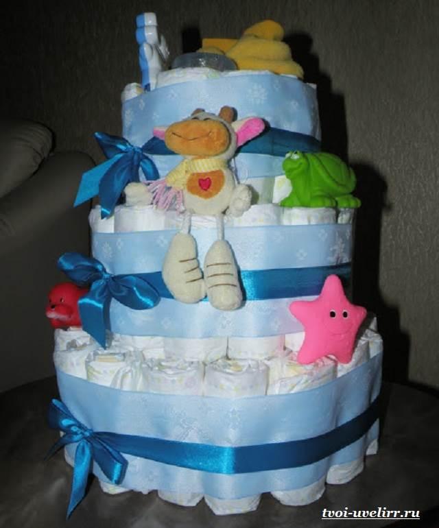 Торт-из-памперсов-Торт-из-памперсов-своими-руками-8