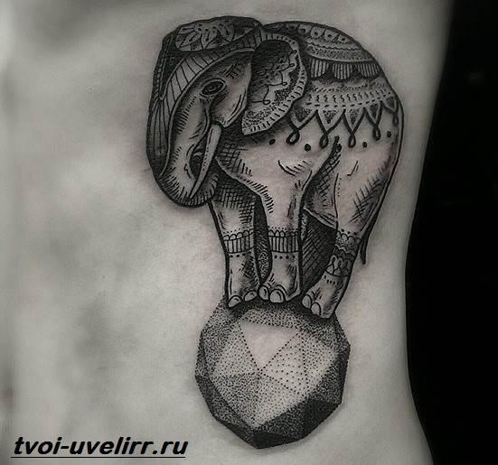 Тату-слон-Особенности-виды-и-значение-тату-слон-11