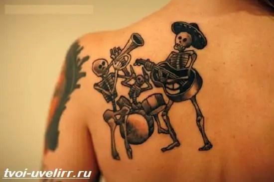 Тату-скелет-Значение-тату-скелет-Эскизы-и-фото-тату-скелет-6