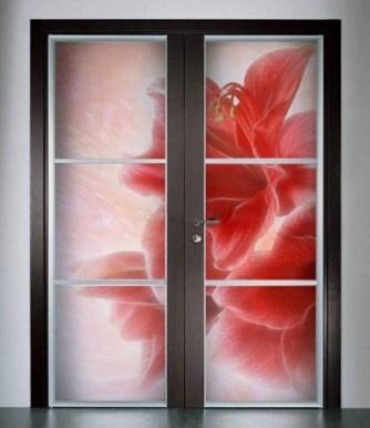 Фотопечать на межкомнатной двери.