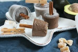 Čokoládové nanuky s avokádem