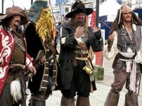 You might see pirates ashore!