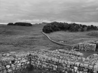 Corner gate and part of Hadrian's Wall. Housesteads Roman Fort, Hadrian's Wall