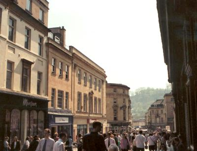 Georgian street in Bath
