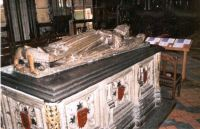 King John's tomb, Worcester Cathedral. King John was widely seen as one of the worst Kings of England.