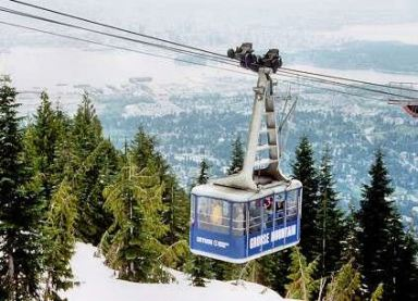 Grouse Moutain ski lift, Vancouver