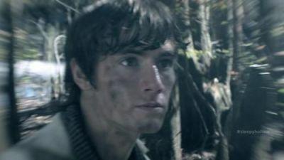 Jeremy Crane (Danny Rawley) in the woods on Sleepy Hollow