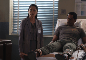 Sheriff Reyes questions Frank Irving at Tarrytown Psychiatric on Sleepy Hollow