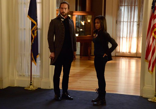 Ichabod and Abbie in the Pittura Infamante episode on Sleepy Hollow