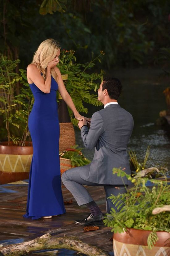 Ben Higgins gets down on one knee for Lauren on The Bachelor