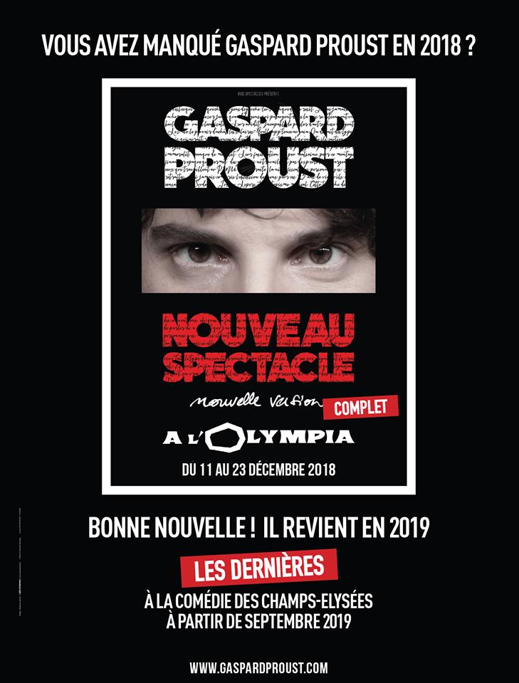 Gaspard Proust Nouveau Spectacle Dvd : gaspard, proust, nouveau, spectacle, I(d)+'