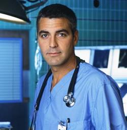 Geore Clooney in ER