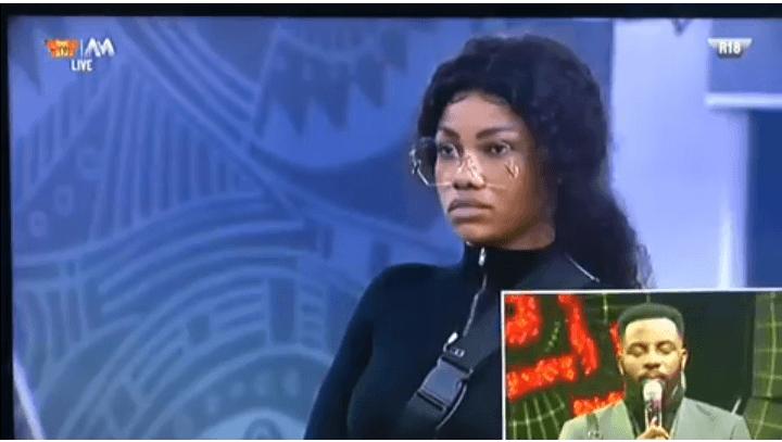 BBNaija 2019: Tacha shocked, looks speechless as Biggie evicts her