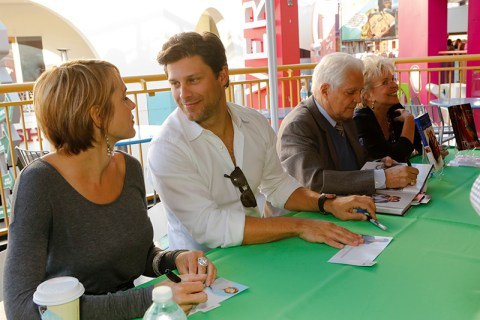 "DAYS OF OUR LIVES -- ""Universal Fan Event"" -- Pictured: (l-r) Arianne Zucker, Greg Vaughan, Bill Hayes, Susan Seaforth Hayes -- (Photo by: Vivian Zink/NBC)"