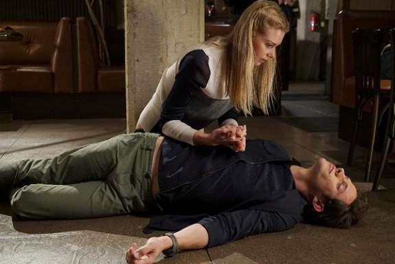 "STITCHERS - ""Full Stop"" - A shooting leaves Detective Fisher in ICU, and Kirsten on the hunt for the cause in the summer finale of ""Stitchers,"" airing Tuesday, August 4, 2015 at 9:00PM ET/PT on ABC Family. (ABC Family/Eric McCandless) EMMA ISHTA, KYLE HARRIS"