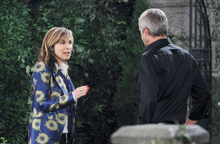 Kate (Lauren Koslow) took back control and broke things off with Clyde (James Read). Photo Credit: © Howard Wise/jpistudios.com.