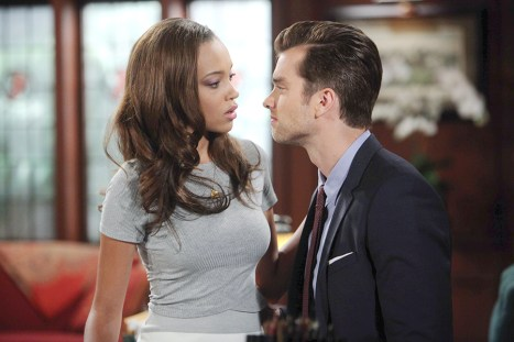 Thomas (Pierson Fode) tempts fate with Nicole (Reign Edwards). Photo Credit: © Howard Wise/jpistudios.com