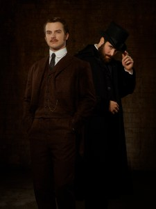 "TIME AFTER TIME - ABC's ""Time After Time"" stars Freddie Stroma as H.G. Wells and Josh Bowman as John Stevenson. (ABC/Bob D'Amico)"